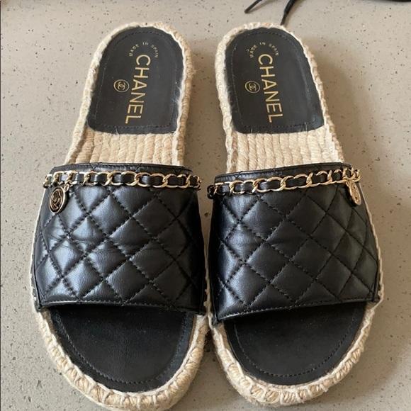 Chanel espadrilles flat sandal